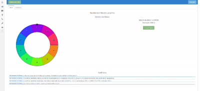 Módulo de sorteio de UH interativo. Projeto Minha Casa Minha Vida/SEHARPE/Prefeitura Municipal do Natal. Dados fictícios.